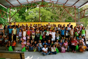 Kids and The Mission Groups at the Easter Egg Hunt.